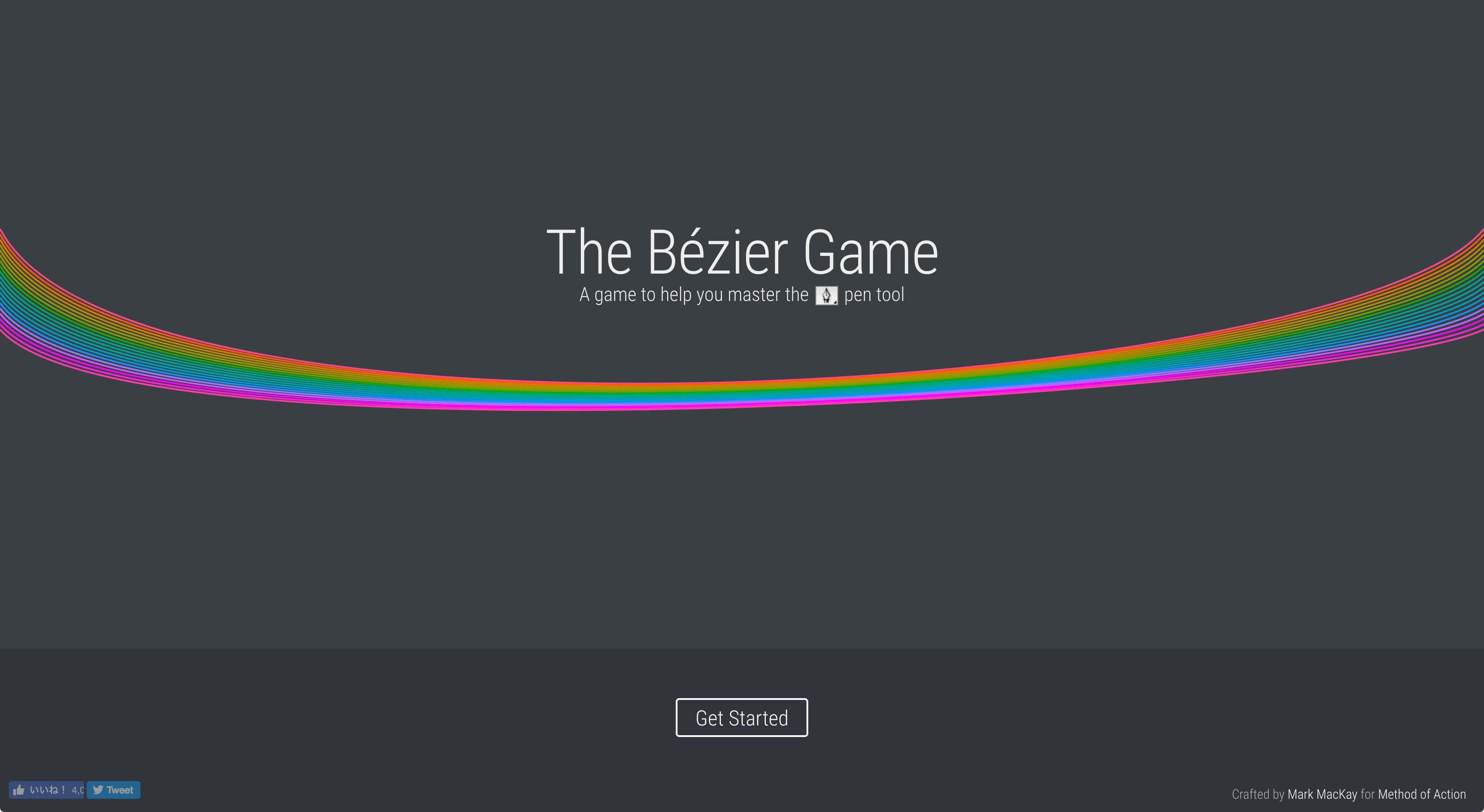 遊びながら「ベジェ曲線」を覚えられるサイト:The Bézier Game