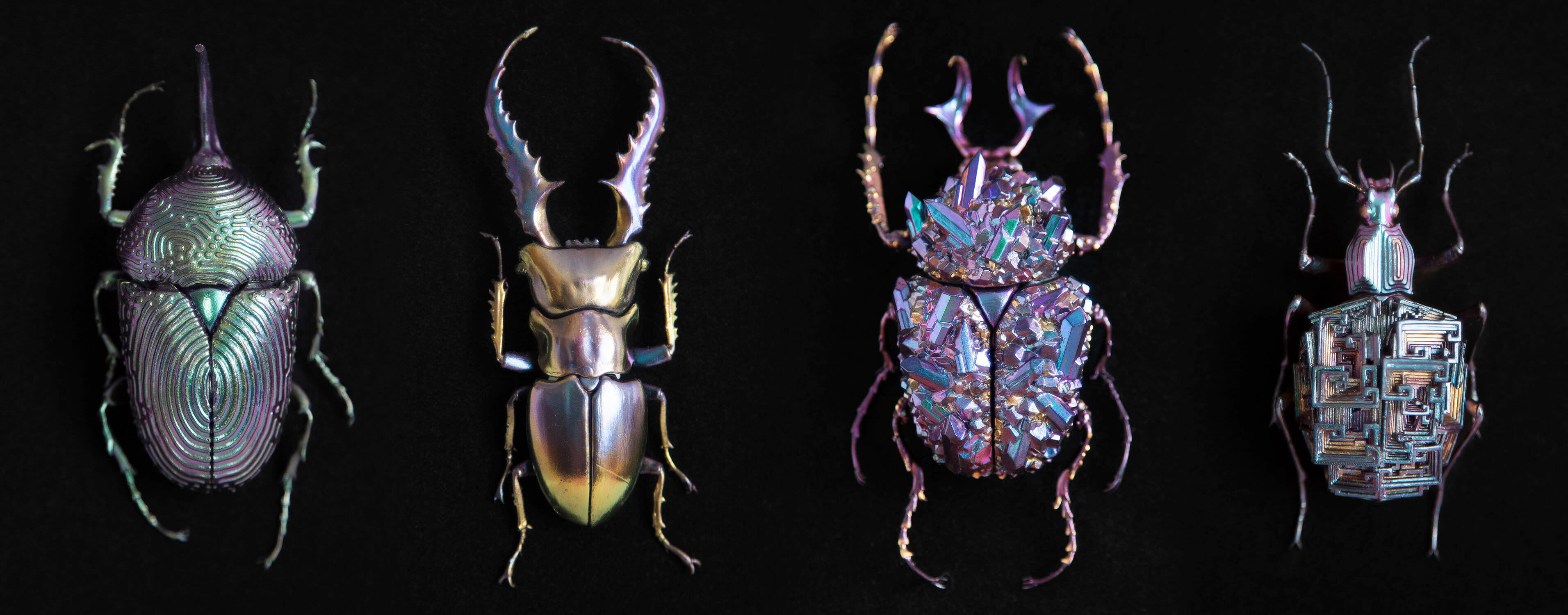 鉱石のような昆虫アート:Nozomi