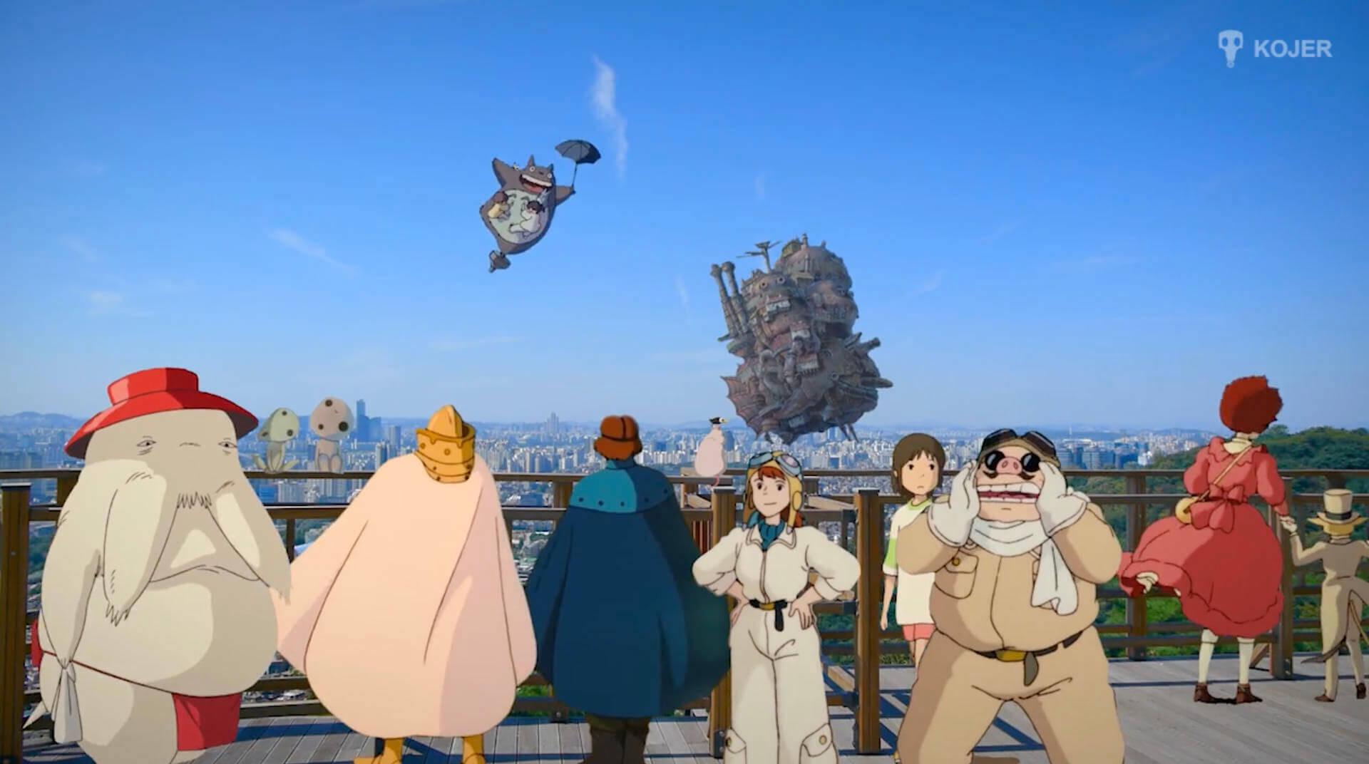 現実世界に混ぜられたジブリのキャラクター:Studio Ghibli in Real Life