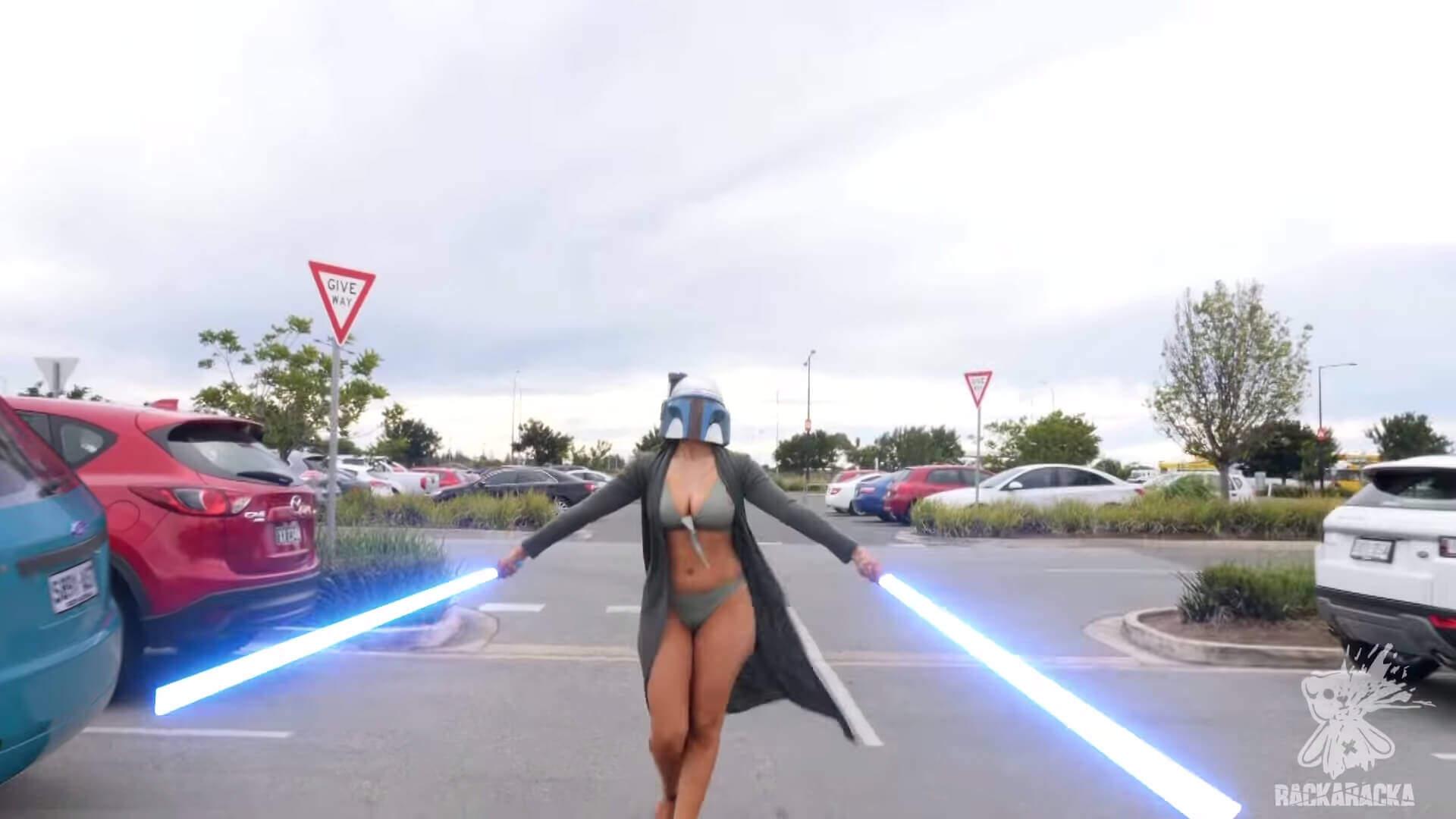 ライトセイバーの戦いをモールでやってみた(VFX)