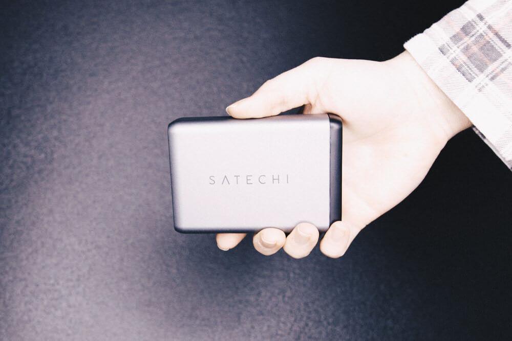 SatechiのType-C対応のオシャレなトラベルチャージャー、75Wまで対応