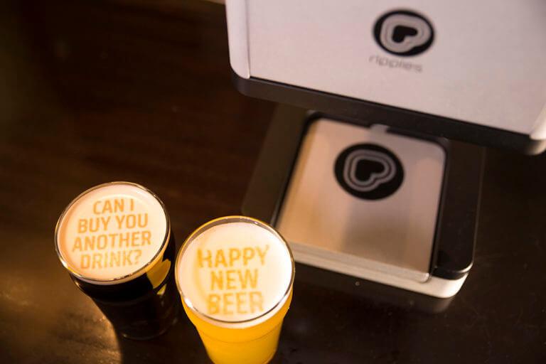 インスタ映えするビールの泡を造れるマシン:Beer Ripples