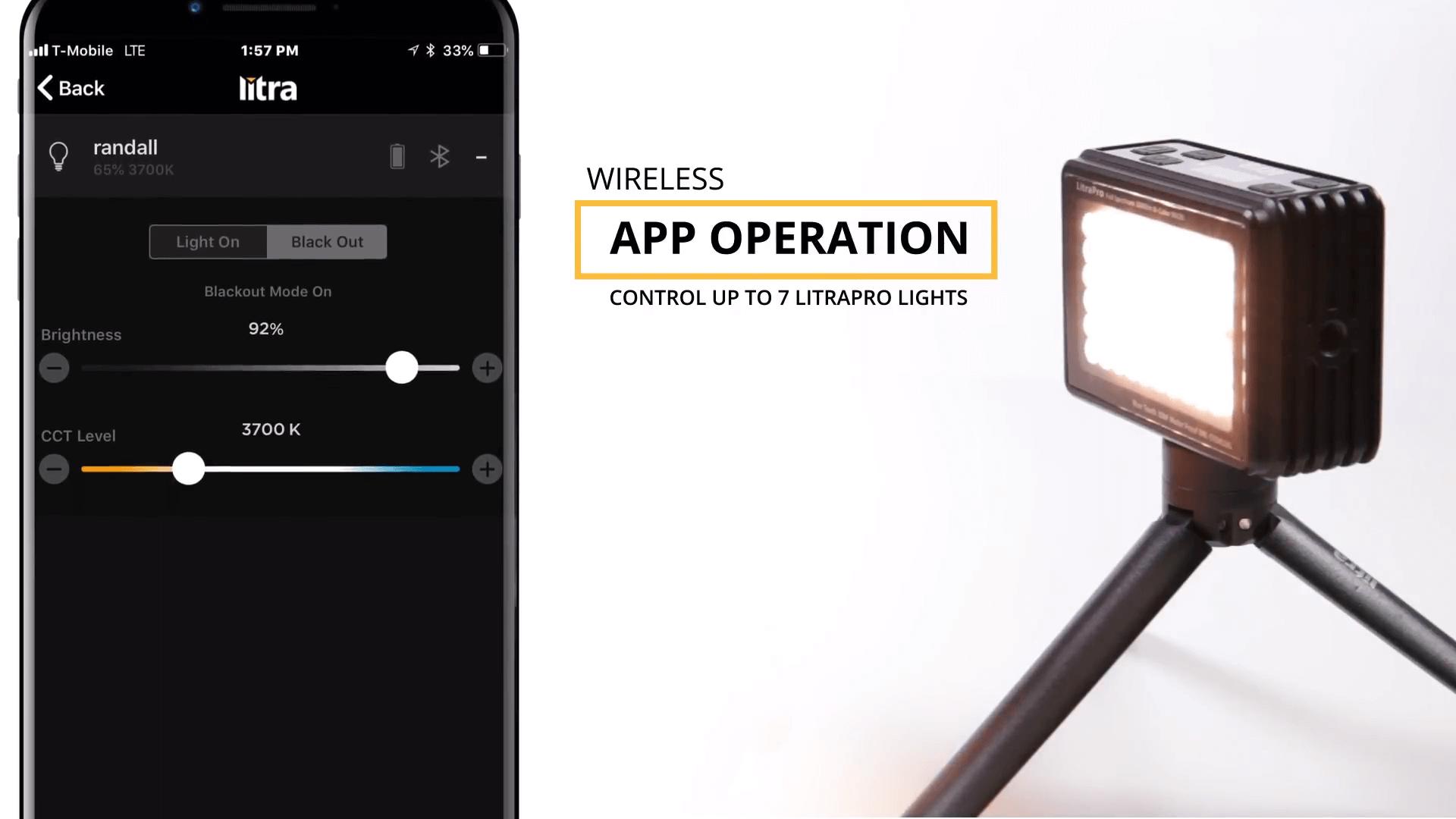 アプリで操作可能な撮影用LEDライト:LitraPro