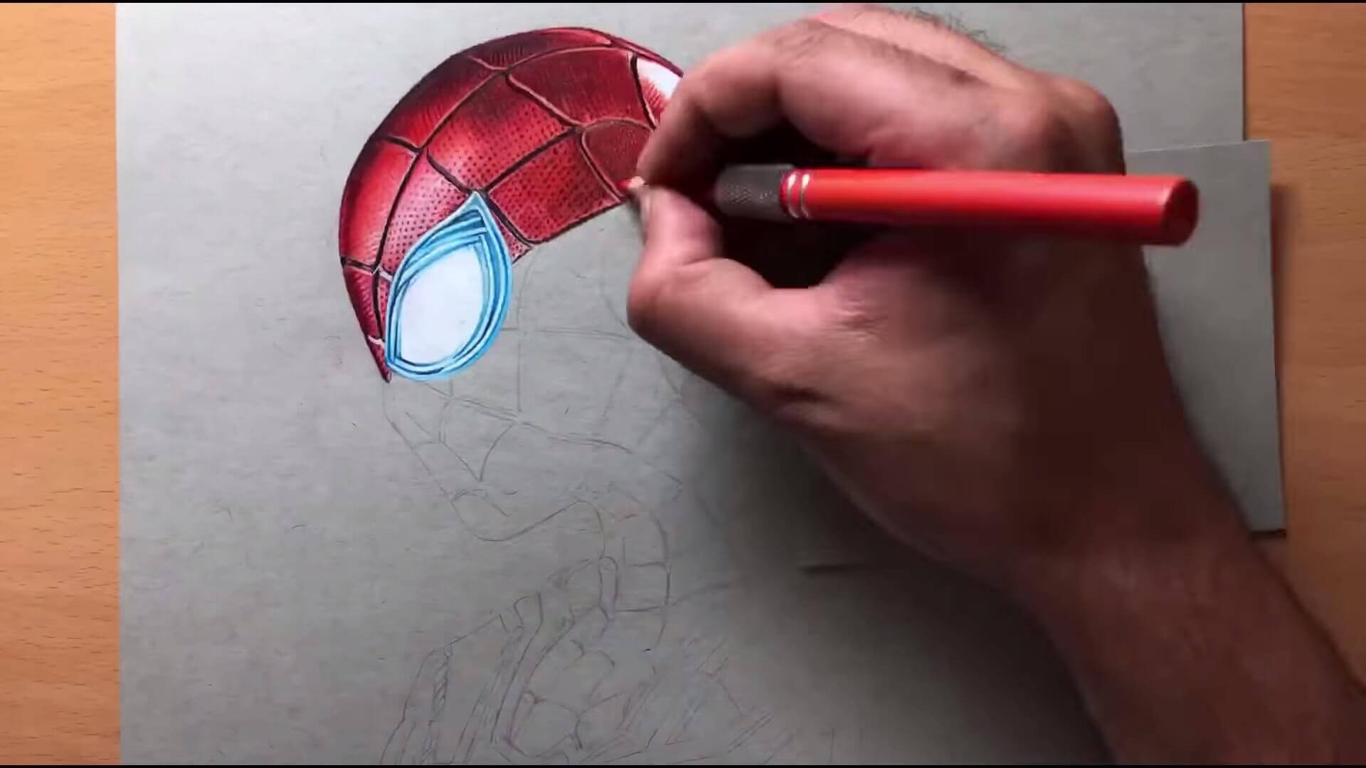 Drawing Iron Spider Man Iron Suit Marvel Timelapse Artology 0 38 screenshot