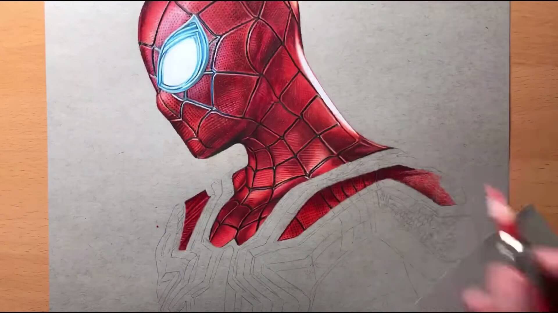 Drawing Iron Spider Man Iron Suit Marvel Timelapse Artology 2 16 screenshot
