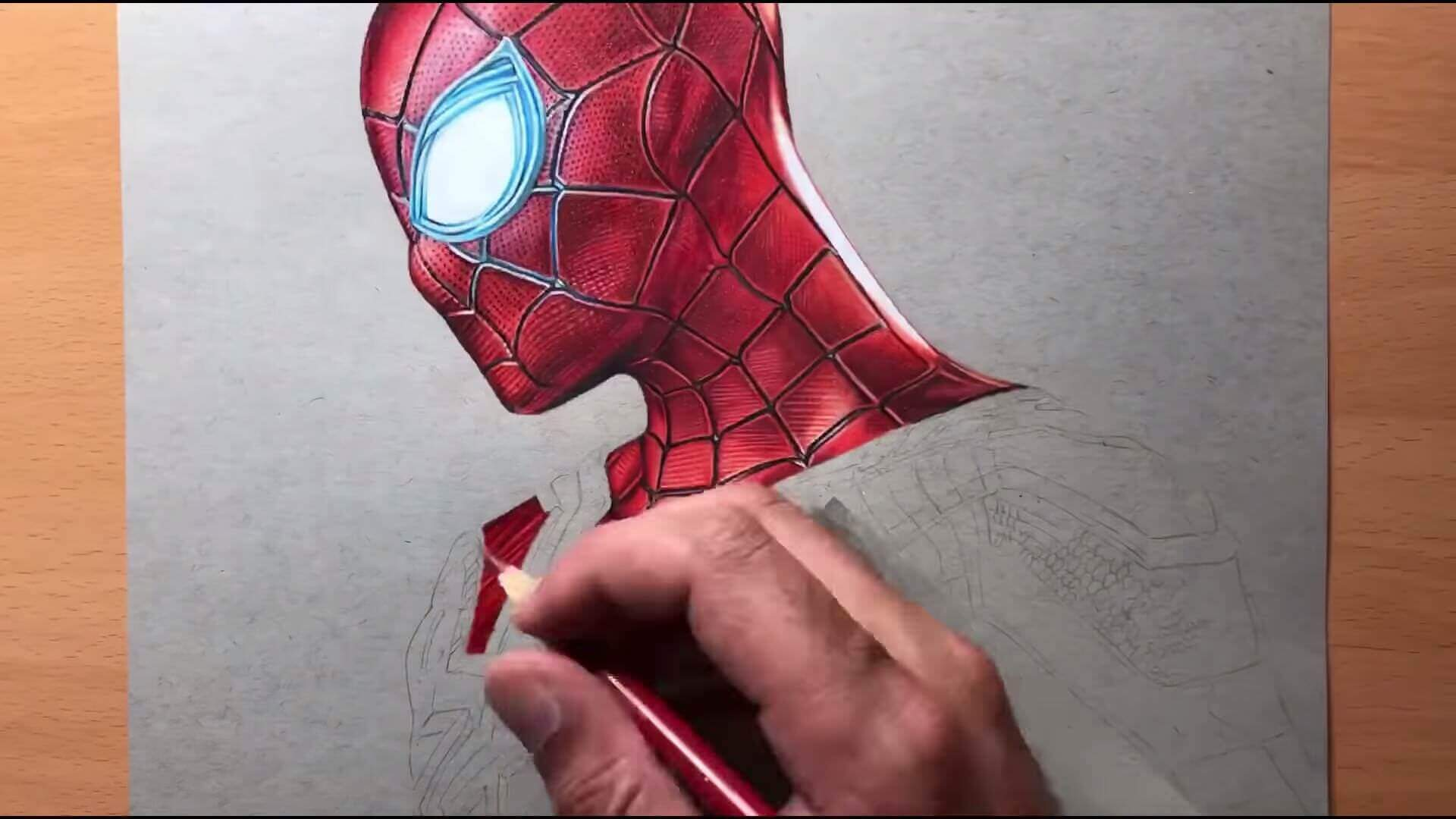 Drawing Iron Spider Man Iron Suit Marvel Timelapse Artology 2 5 screenshot