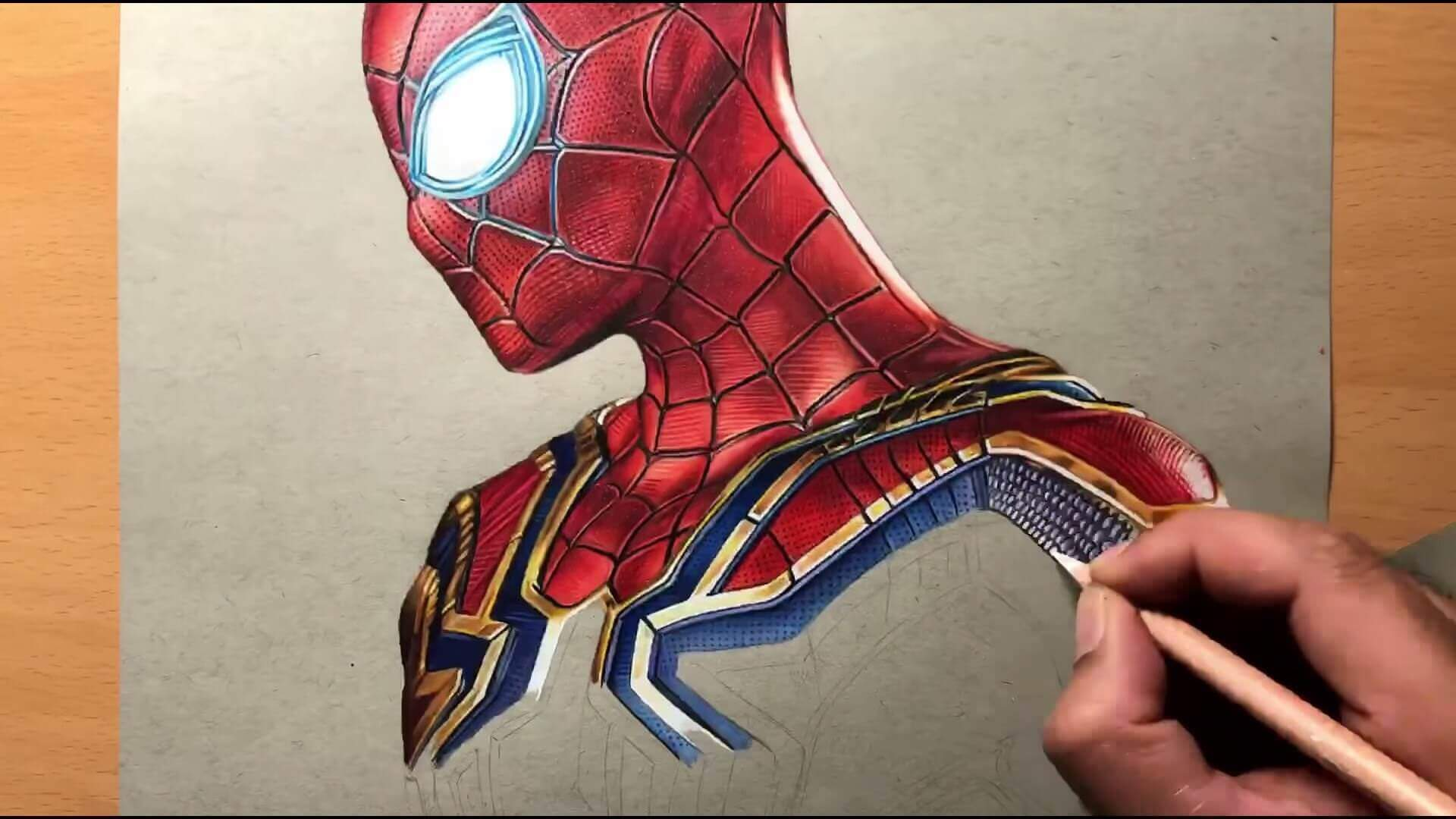 Drawing Iron Spider Man Iron Suit Marvel Timelapse Artology 3 18 screenshot