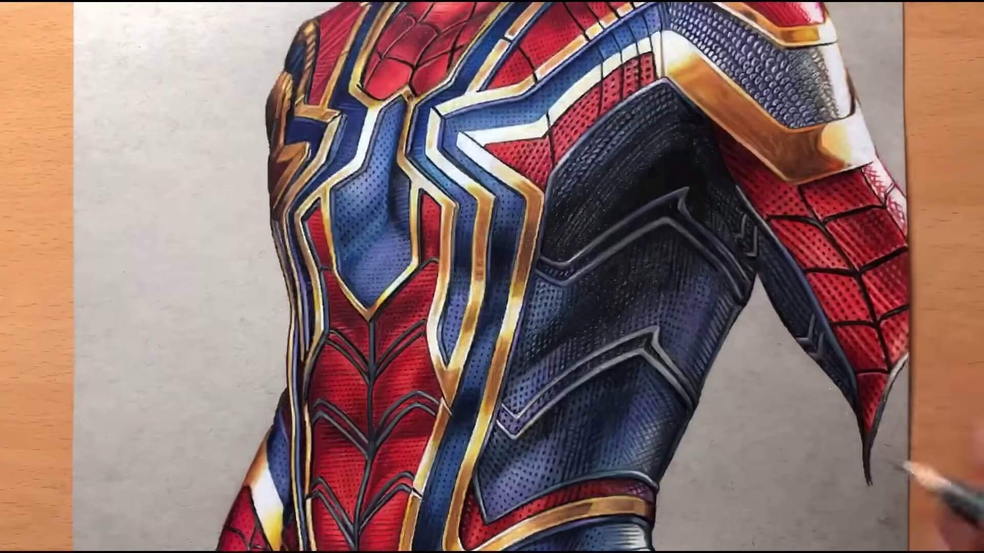 Drawing Iron Spider Man Iron Suit Marvel Timelapse Artology 5 50 screenshot