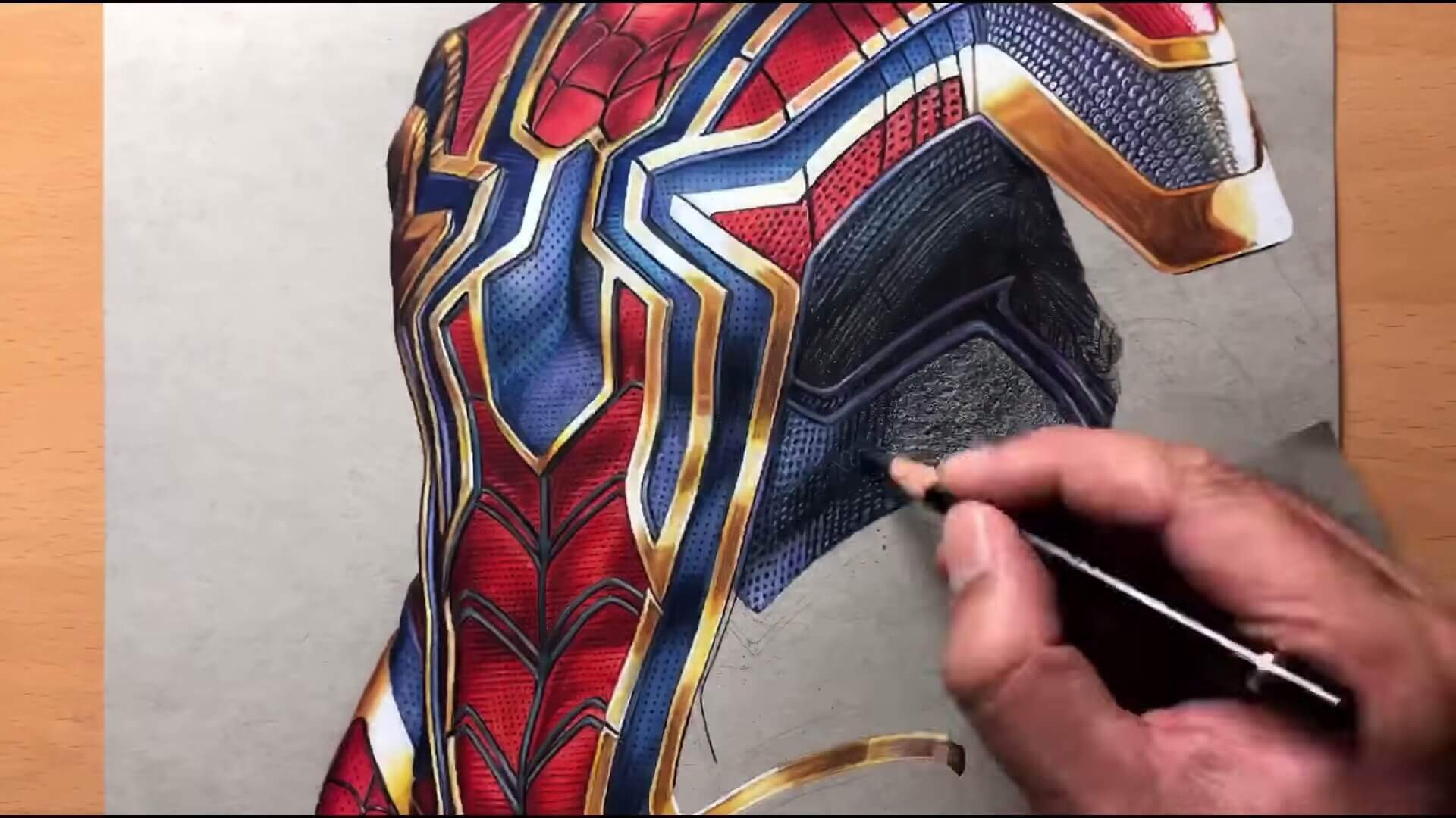 Drawing Iron Spider Man Iron Suit Marvel Timelapse Artology 5 7 screenshot