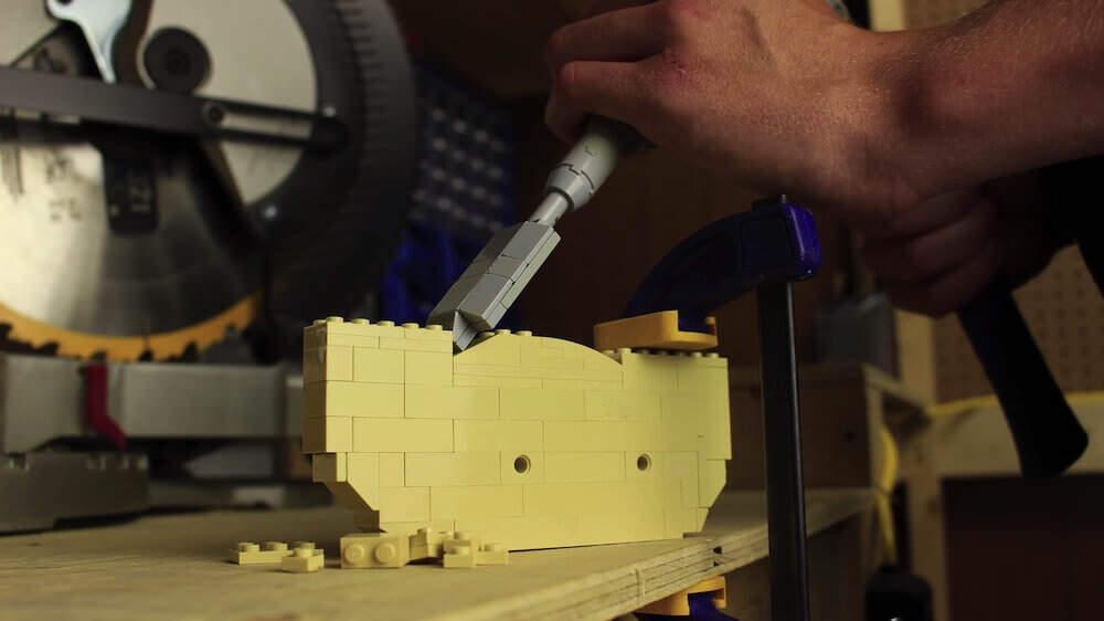 ウッドワーカーをLEGOで再現したストップモーション:Lego In Real Life