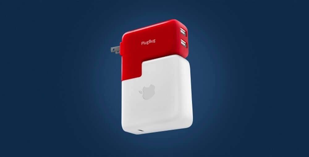 MacBookの電源に充電用USBポートを二つ追加してくれるやつ:PlugBug Duo