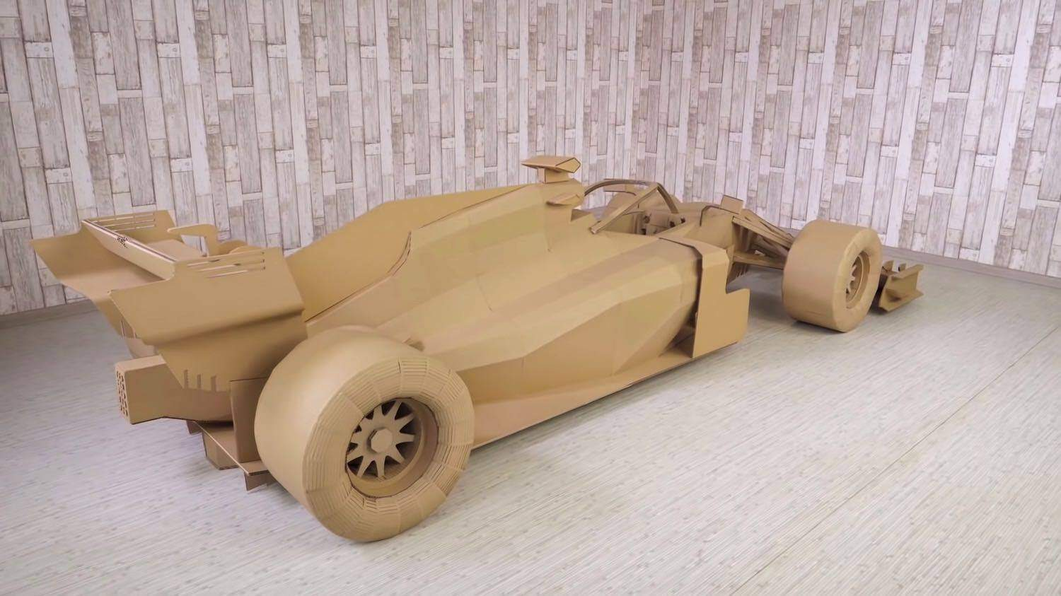 How to Make FORMULA 1 Car from Cardboard for 500 hours 5 9 screenshot 1500x843